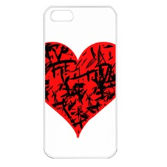 Valentine Hart Apple Iphone 5 Seamless Case (white) by Valentinaart