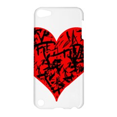Valentine Hart Apple Ipod Touch 5 Hardshell Case by Valentinaart