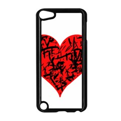 Valentine Hart Apple Ipod Touch 5 Case (black) by Valentinaart