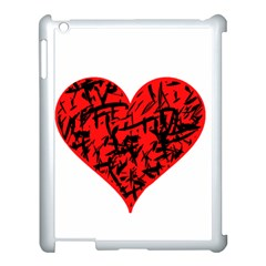 Valentine Hart Apple Ipad 3/4 Case (white) by Valentinaart