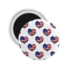 Usa Grunge Heart Shaped Flag Pattern 2 25  Magnets by dflcprints