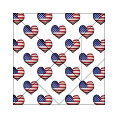 Usa Grunge Heart Shaped Flag Pattern Acrylic Tangram Puzzle (6  X 6 ) by dflcprints