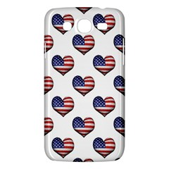 Usa Grunge Heart Shaped Flag Pattern Samsung Galaxy Mega 5 8 I9152 Hardshell Case  by dflcprints