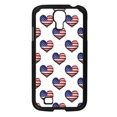 Usa Grunge Heart Shaped Flag Pattern Samsung Galaxy S4 I9500/ I9505 Case (black) by dflcprints