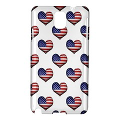 Usa Grunge Heart Shaped Flag Pattern Samsung Galaxy Note 3 N9005 Hardshell Case by dflcprints
