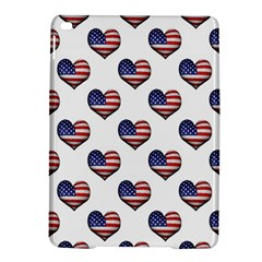 Usa Grunge Heart Shaped Flag Pattern Ipad Air 2 Hardshell Cases by dflcprints