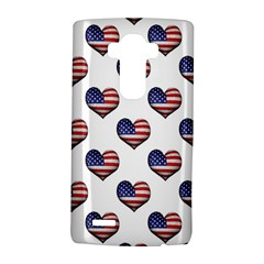 Usa Grunge Heart Shaped Flag Pattern Lg G4 Hardshell Case by dflcprints