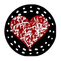 Valentine s Day Design Ornament (round Filigree)  by Valentinaart