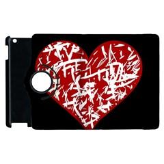 Valentine s Day Design Apple Ipad 2 Flip 360 Case by Valentinaart