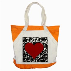 Red Valentine Accent Tote Bag by Valentinaart