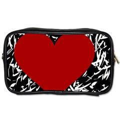 Red Valentine Toiletries Bags 2 Side by Valentinaart