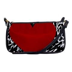 Red Valentine Shoulder Clutch Bags by Valentinaart