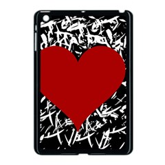Red Valentine Apple Ipad Mini Case (black) by Valentinaart