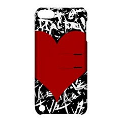 Red Valentine Apple Ipod Touch 5 Hardshell Case With Stand by Valentinaart