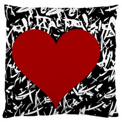 Red Valentine Large Flano Cushion Case (one Side) by Valentinaart