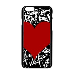 Red Valentine Apple Iphone 6/6s Black Enamel Case by Valentinaart