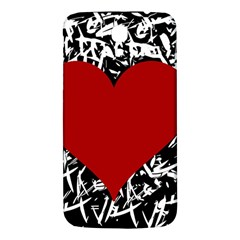 Red Valentine Samsung Galaxy Mega I9200 Hardshell Back Case by Valentinaart