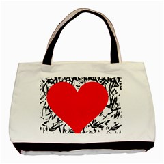 Red Valentine 2 Basic Tote Bag (two Sides) by Valentinaart