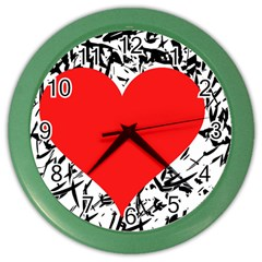 Red Valentine 2 Color Wall Clocks by Valentinaart