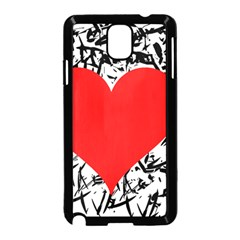 Red Valentine 2 Samsung Galaxy Note 3 Neo Hardshell Case (black) by Valentinaart