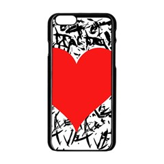 Red Valentine 2 Apple Iphone 6/6s Black Enamel Case by Valentinaart