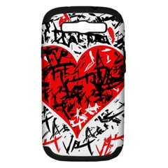Red Hart   Graffiti Style Samsung Galaxy S Iii Hardshell Case (pc+silicone) by Valentinaart