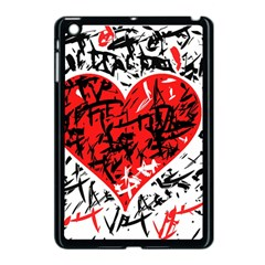 Red Hart   Graffiti Style Apple Ipad Mini Case (black) by Valentinaart