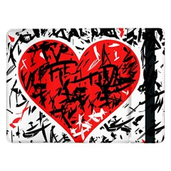 Red Hart   Graffiti Style Samsung Galaxy Tab Pro 12 2  Flip Case by Valentinaart