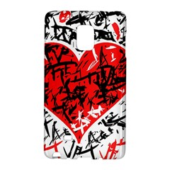 Red Hart   Graffiti Style Galaxy Note Edge by Valentinaart