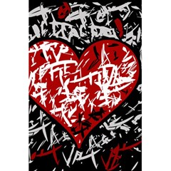 Red Graffiti Style Hart  5 5  X 8 5  Notebooks by Valentinaart