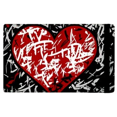 Red Graffiti Style Hart  Apple Ipad 3/4 Flip Case by Valentinaart