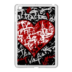 Red Graffiti Style Hart  Apple Ipad Mini Case (white) by Valentinaart