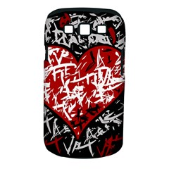 Red Graffiti Style Hart  Samsung Galaxy S Iii Classic Hardshell Case (pc+silicone) by Valentinaart
