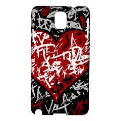 Red Graffiti Style Hart  Samsung Galaxy Note 3 N9005 Hardshell Case by Valentinaart