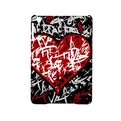 Red Graffiti Style Hart  Ipad Mini 2 Hardshell Cases by Valentinaart