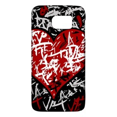 Red Graffiti Style Hart  Galaxy S6 by Valentinaart