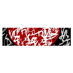 Red Graffiti Style Hart  Satin Scarf (oblong) by Valentinaart