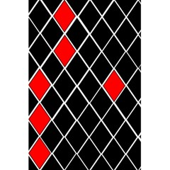 Elegant Black And White Red Diamonds Pattern 5 5  X 8 5  Notebooks by yoursparklingshop