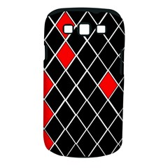 Elegant Black And White Red Diamonds Pattern Samsung Galaxy S Iii Classic Hardshell Case (pc+silicone) by yoursparklingshop