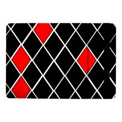 Elegant Black And White Red Diamonds Pattern Samsung Galaxy Tab Pro 10 1  Flip Case by yoursparklingshop