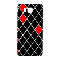 Elegant Black And White Red Diamonds Pattern Samsung Galaxy Alpha Hardshell Back Case by yoursparklingshop
