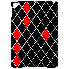 Elegant Black And White Red Diamonds Pattern Apple Ipad Pro 9 7   Hardshell Case by yoursparklingshop
