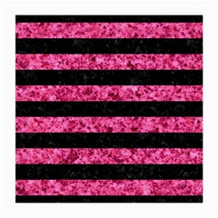 Stripes2 Black Marble & Pink Marble Medium Glasses Cloth (2 Sides) by trendistuff