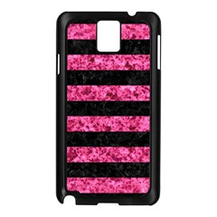 Stripes2 Black Marble & Pink Marble Samsung Galaxy Note 3 N9005 Case (black) by trendistuff