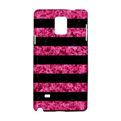 Stripes2 Black Marble & Pink Marble Samsung Galaxy Note 4 Hardshell Case by trendistuff