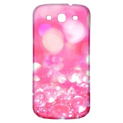Cute Pink Transparent Diamond  Samsung Galaxy S3 S Iii Classic Hardshell Back Case by Brittlevirginclothing