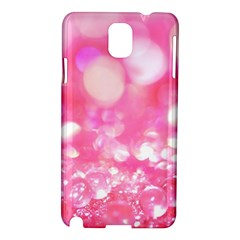 Cute Pink Transparent Diamond  Samsung Galaxy Note 3 N9005 Hardshell Case by Brittlevirginclothing