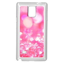 Cute pink transparent diamond  Samsung Galaxy Note 4 Case (White)