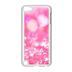 Cute Pink Glamour Diamonds Apple Ipod Touch 5 Case (white) by Brittlevirginclothing