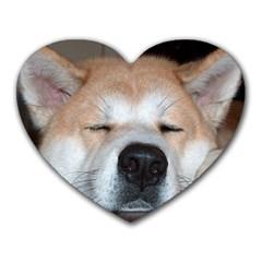 Akita Sleeping Heart Mousepads